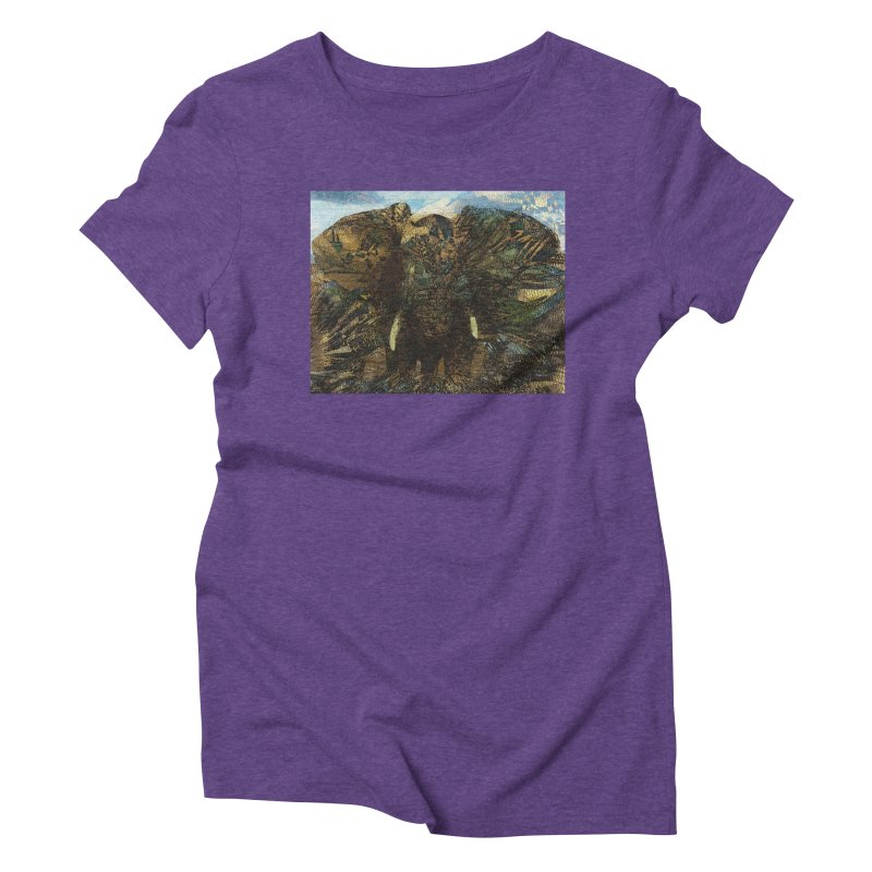 Elephant Women's Triblend T-Shirt by wearARTis blakereflected