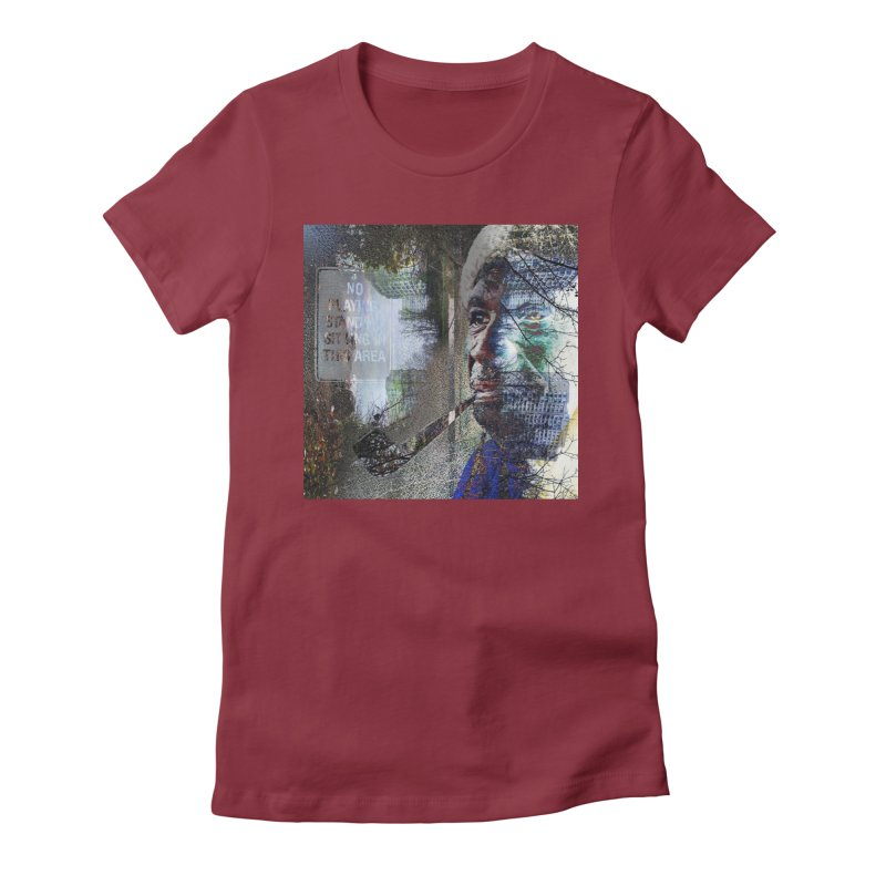 Watchful Eyes Women's Fitted T-Shirt by wearARTis blakereflected