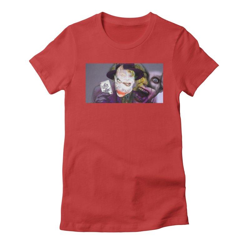 HA HA HA Women's Fitted T-Shirt by wearARTis blakereflected
