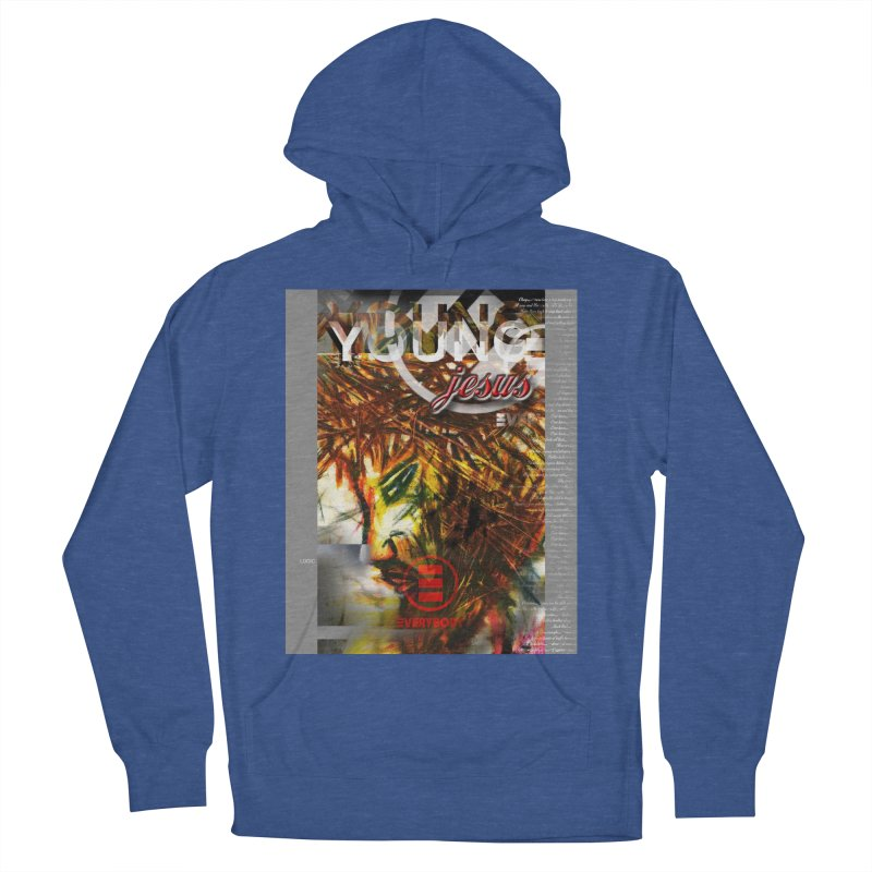 YOUNG jesus Women's French Terry Pullover Hoody by wearARTis blakereflected
