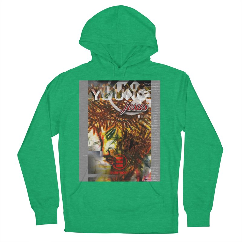 YOUNG jesus Men's French Terry Pullover Hoody by wearARTis blakereflected
