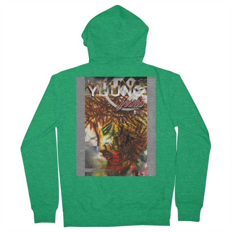YOUNG jesus Men's Zip-Up Hoody by wearARTis blakereflected