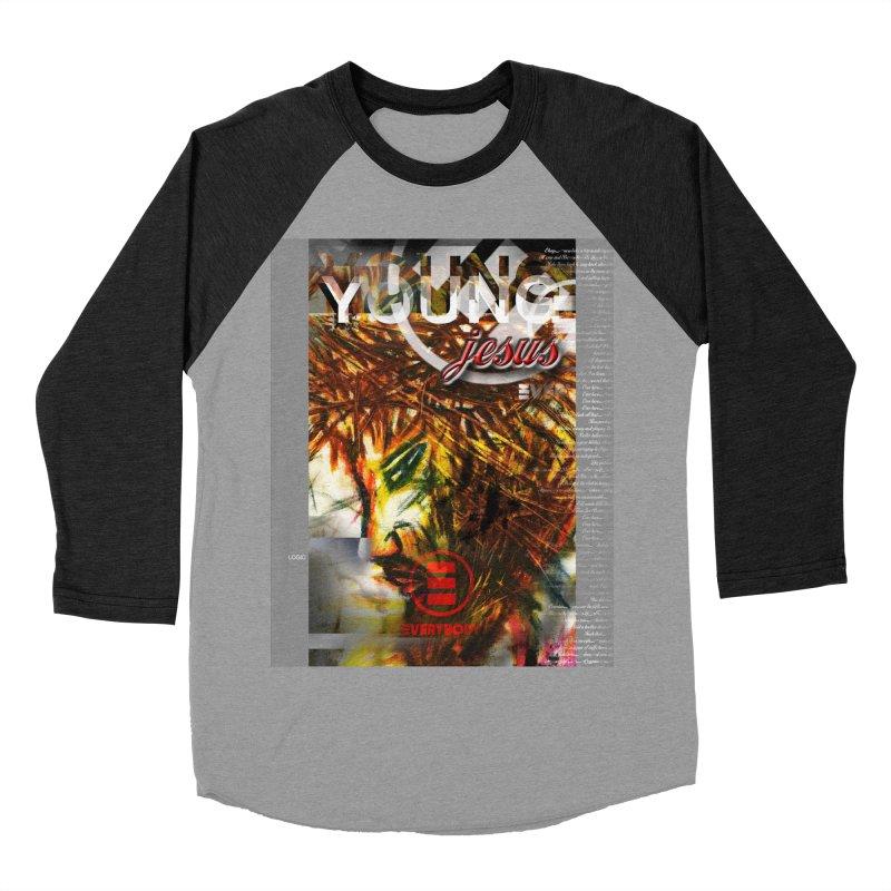 YOUNG jesus Women's Baseball Triblend Longsleeve T-Shirt by wearARTis blakereflected