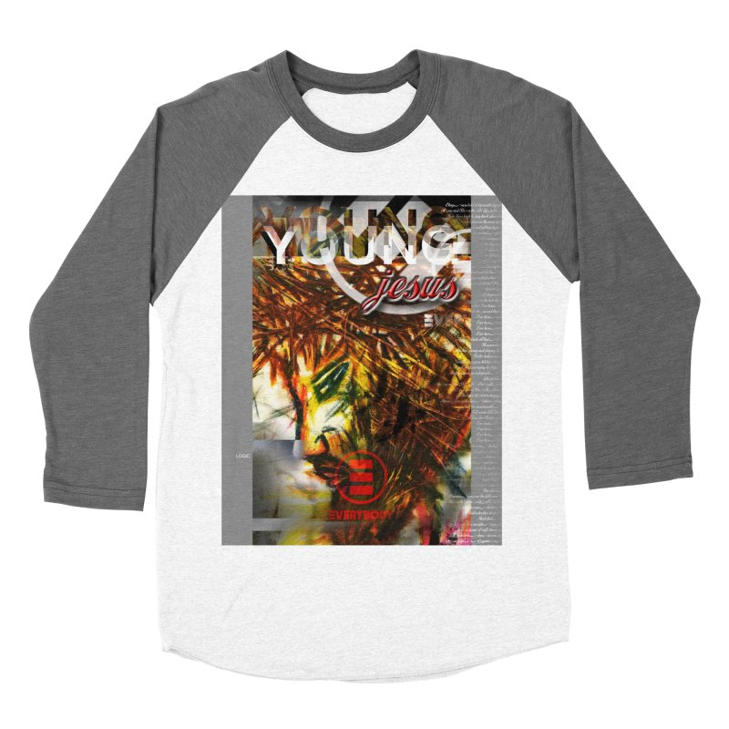 YOUNG jesus Men's Baseball Triblend Longsleeve T-Shirt by wearARTis blakereflected