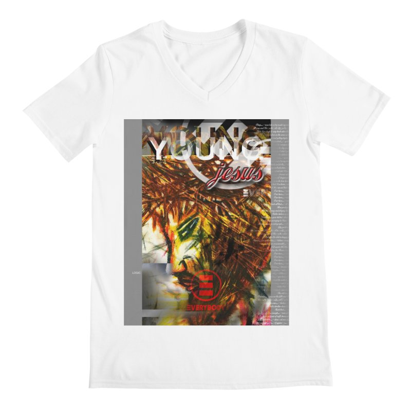 YOUNG jesus Men's V-Neck by wearARTis blakereflected