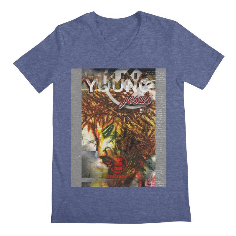 YOUNG jesus Men's Regular V-Neck by wearARTis blakereflected