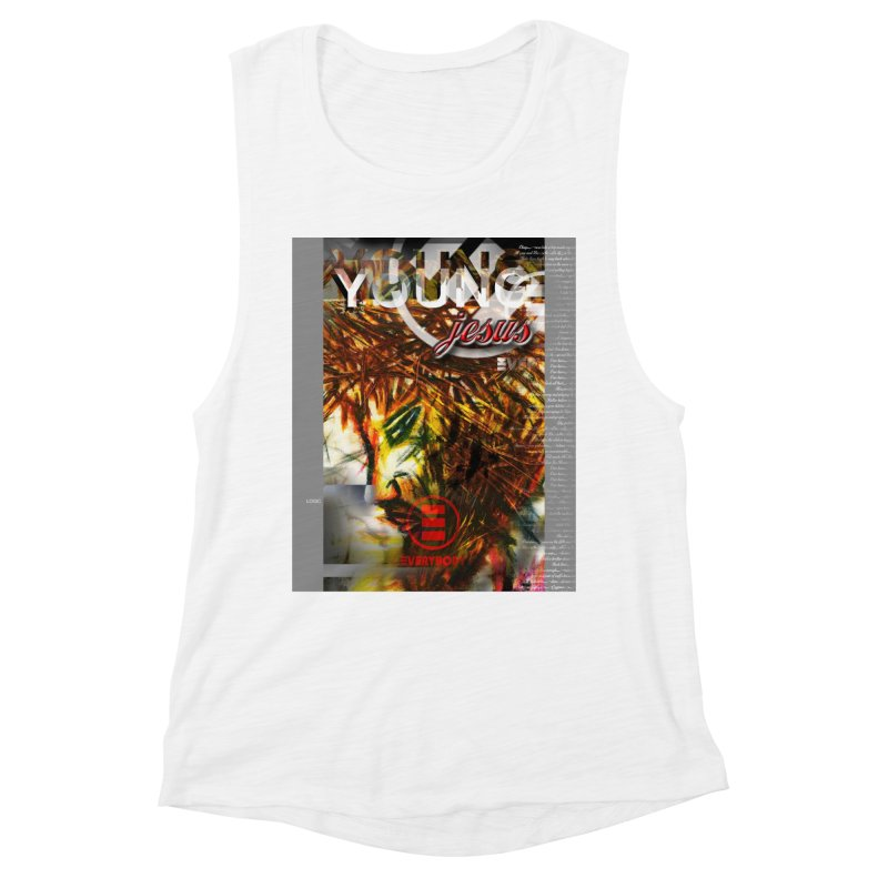 YOUNG jesus Women's Muscle Tank by wearARTis blakereflected