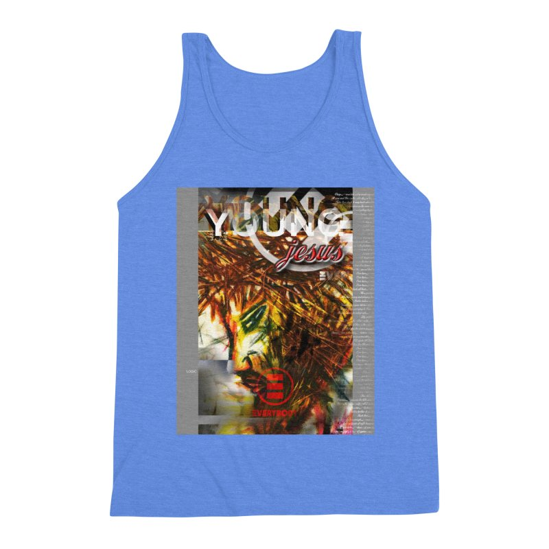YOUNG jesus Men's Triblend Tank by wearARTis blakereflected