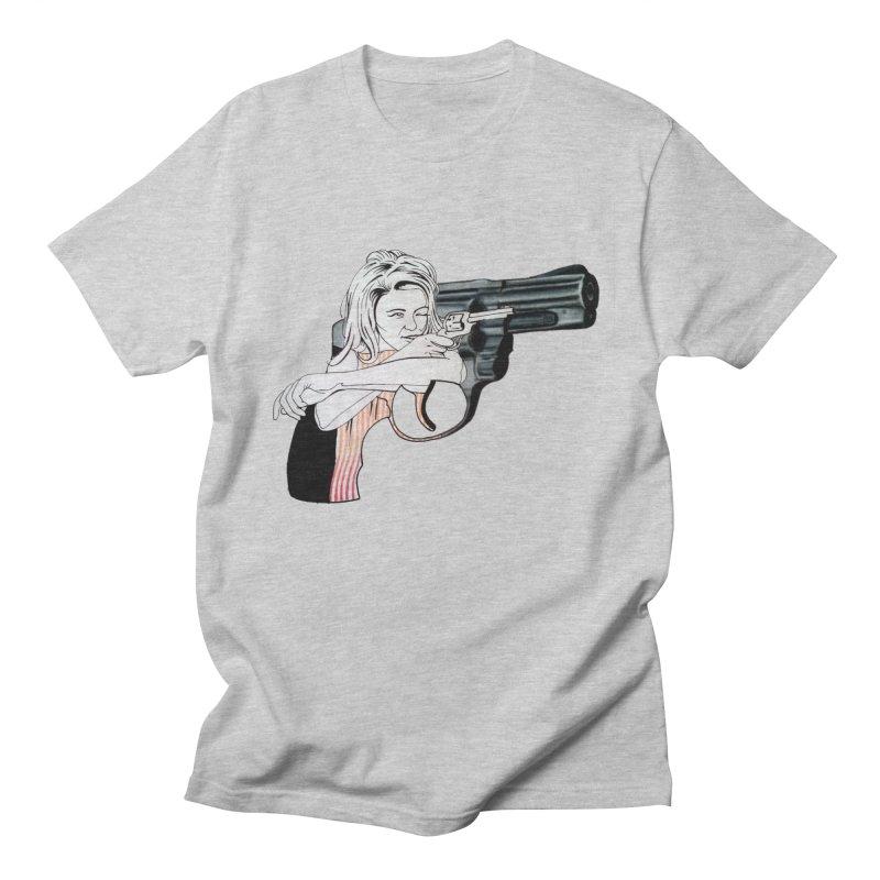 Jamie's Got a Gun Men's T-shirt by Blake Wood Ink