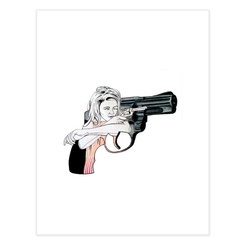 Jamie's Got a Gun Home Fine Art Print by Blake Wood Ink