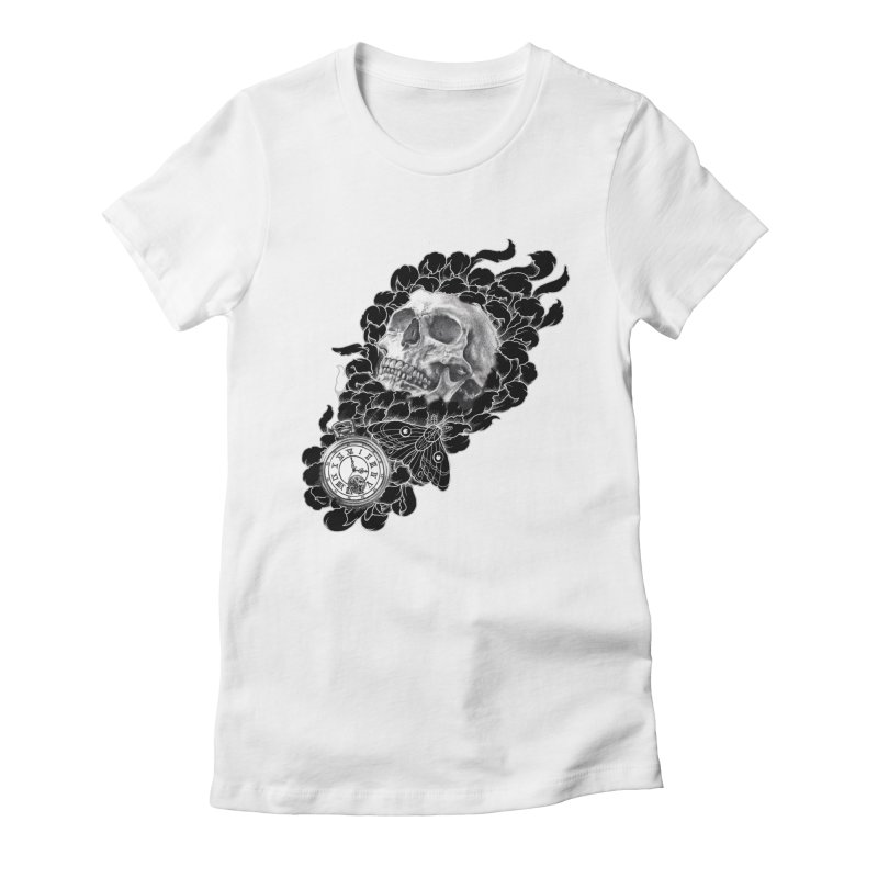 4 O'Clock Women's Fitted T-Shirt by Blake Wood Ink