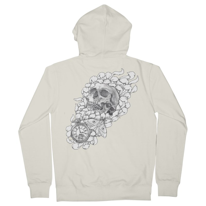 Mourning Flower Women's Zip-Up Hoody by Blake Wood Ink