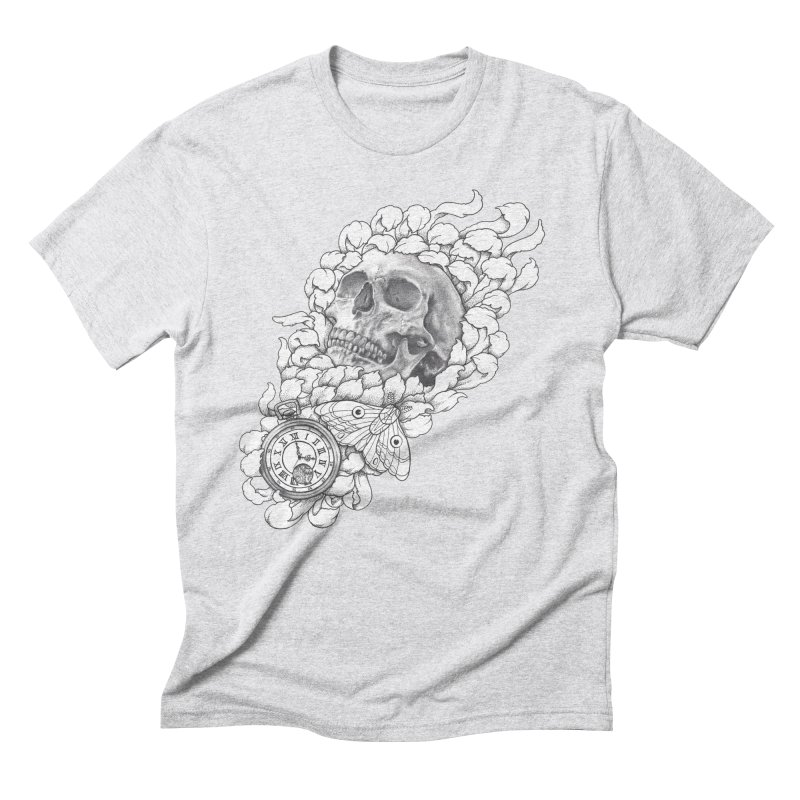Mourning Flower Men's Triblend T-shirt by Blake Wood Ink