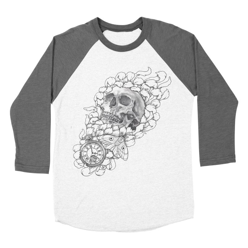 Mourning Flower Women's Baseball Triblend T-Shirt by Blake Wood Ink