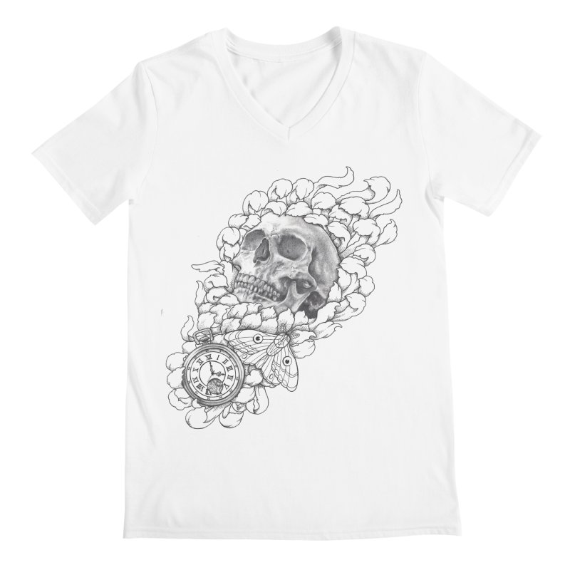 Mourning Flower Men's V-Neck by Blake Wood Ink