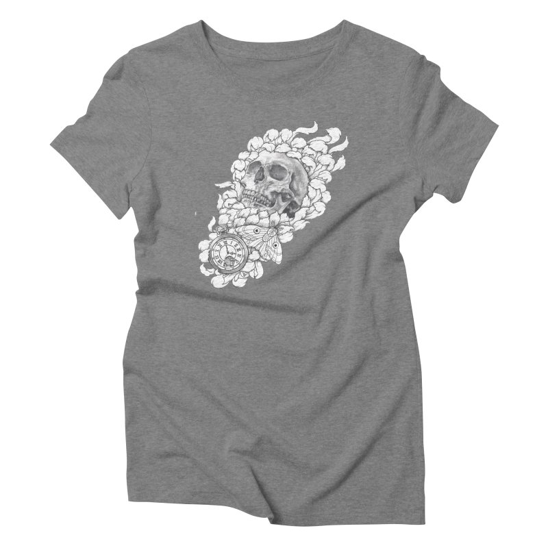 Mourning Flower Women's Triblend T-shirt by Blake Wood Ink
