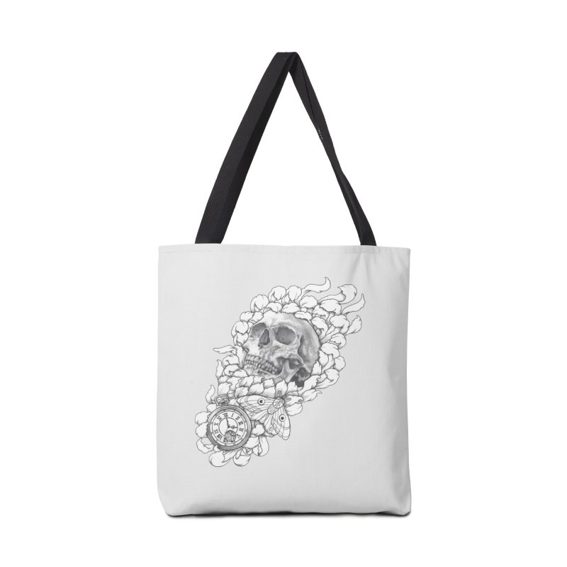 Mourning Flower Accessories Bag by Blake Wood Ink