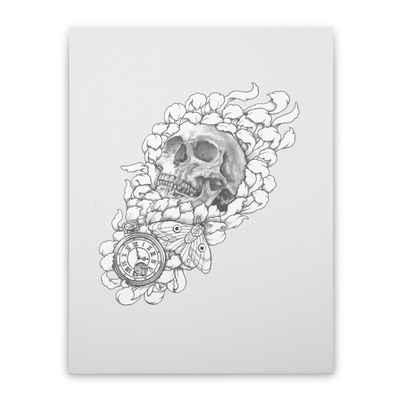 Mourning Flower Home Stretched Canvas by Blake Wood Ink