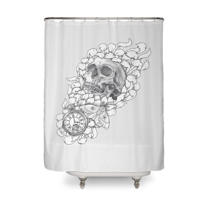 Mourning Flower Home Shower Curtain by Blake Wood Ink