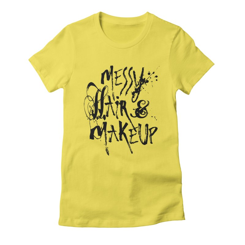 Hair? Don't Care Women's Fitted T-Shirt by Blake Wood Ink