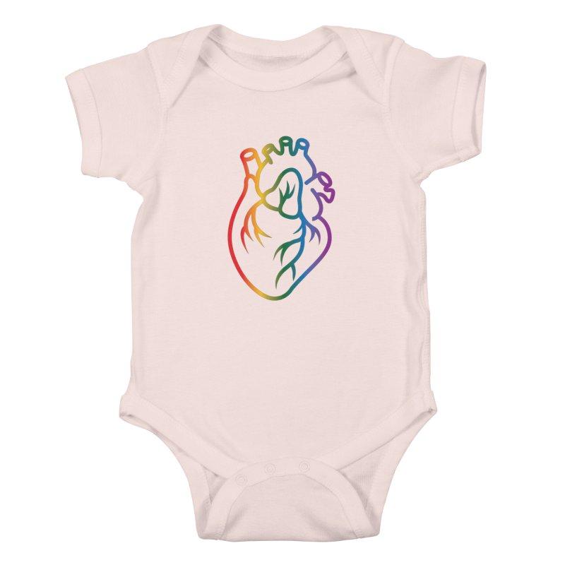 Love Is Love Kids Baby Bodysuit by Blake Wood Ink