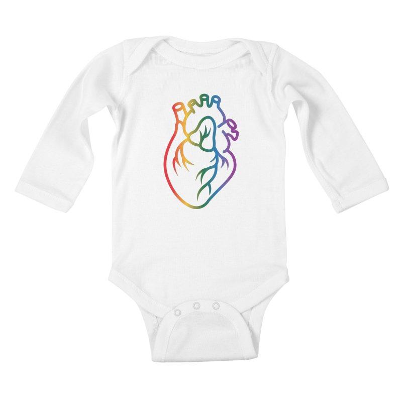 Love Is Love Kids Baby Longsleeve Bodysuit by Blake Wood Ink