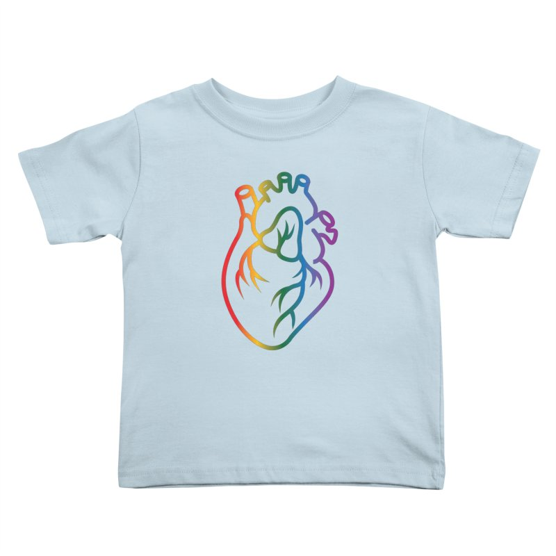Love Is Love Kids Toddler T-Shirt by Blake Wood Ink