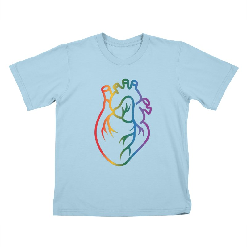 Love Is Love Kids T-Shirt by Blake Wood Ink