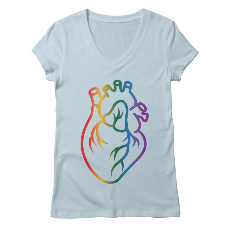 Love Is Love Women's V-Neck by Blake Wood Ink