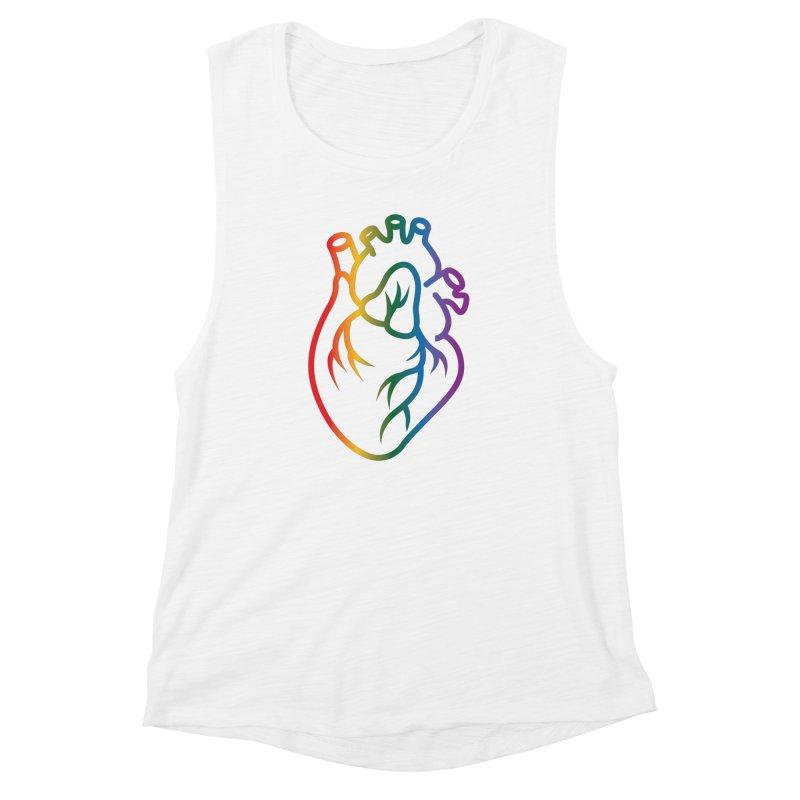Love Is Love Women's Muscle Tank by Blake Wood Ink