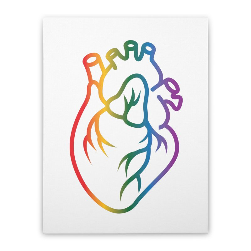 Love Is Love Home Stretched Canvas by Blake Wood Ink