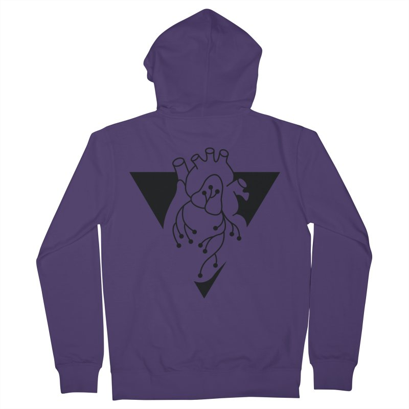 Black Triangle Women's Zip-Up Hoody by Blake Wood Ink