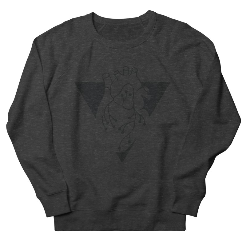 Black Triangle Men's French Terry Sweatshirt by Blake Wood Ink