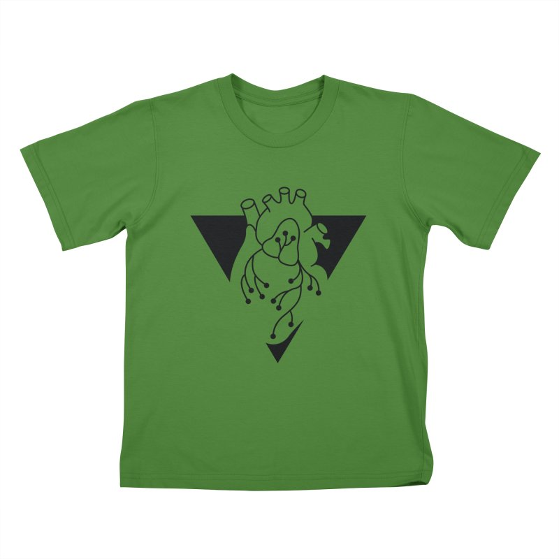 Black Triangle Kids T-Shirt by Blake Wood Ink