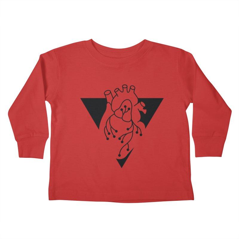 Black Triangle Kids Toddler Longsleeve T-Shirt by Blake Wood Ink