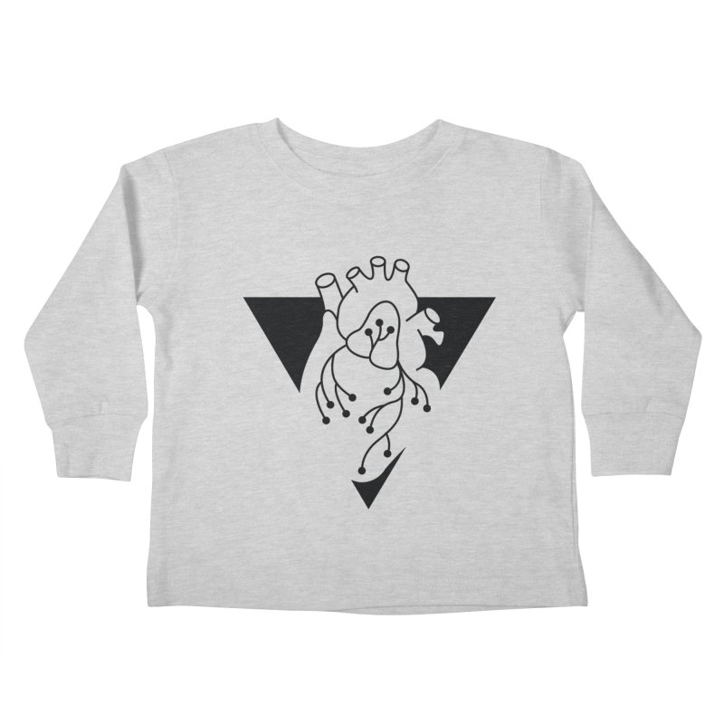 Black Triangle Kids Toddler Longsleeve T-Shirt by Blake Wood Ink