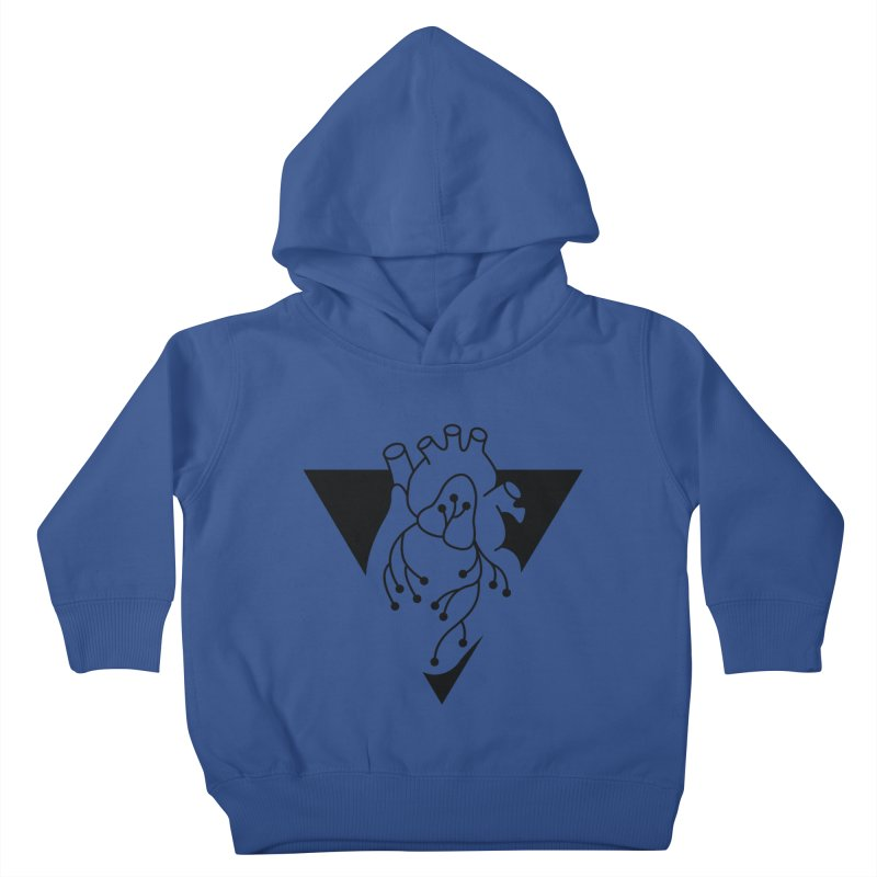 Black Triangle Kids Toddler Pullover Hoody by Blake Wood Ink