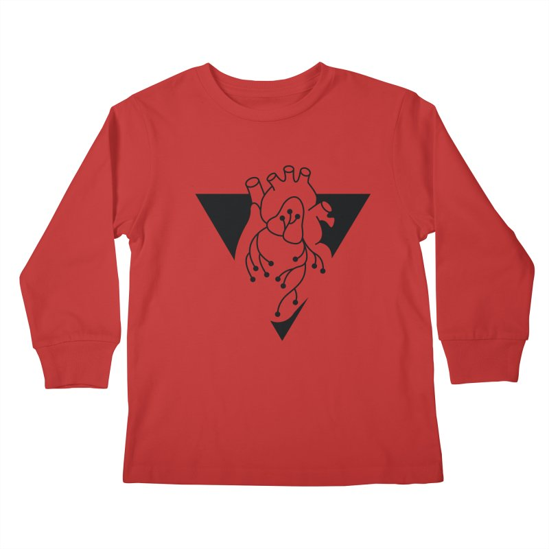 Black Triangle Kids Longsleeve T-Shirt by Blake Wood Ink