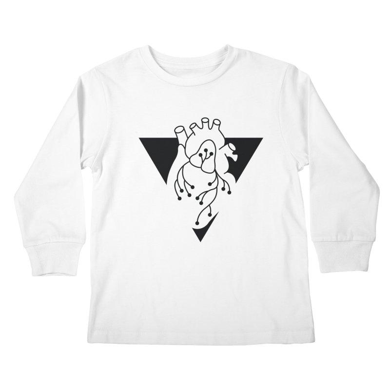 Black Triangle Kids Longsleeve T-Shirt by Blake Wood Ink