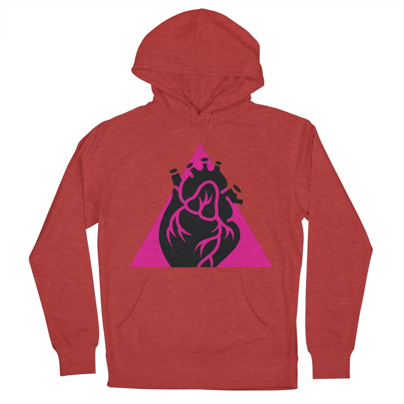 Pink Triangle Men's Pullover Hoody by Blake Wood Ink