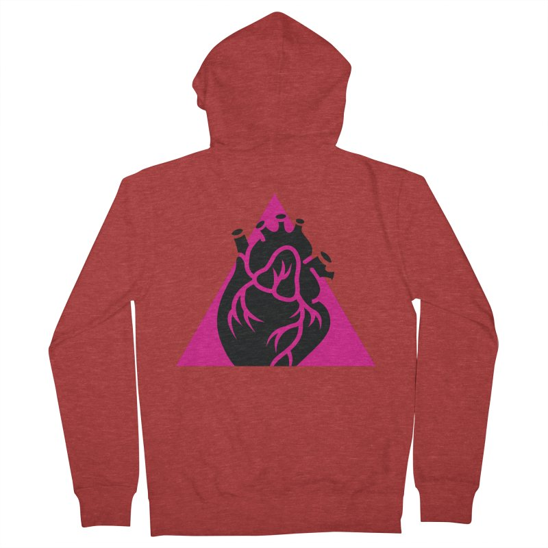 Pink Triangle Women's Zip-Up Hoody by Blake Wood Ink