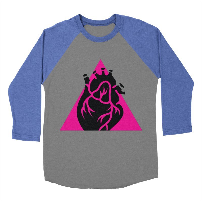 Pink Triangle Women's Baseball Triblend T-Shirt by Blake Wood Ink