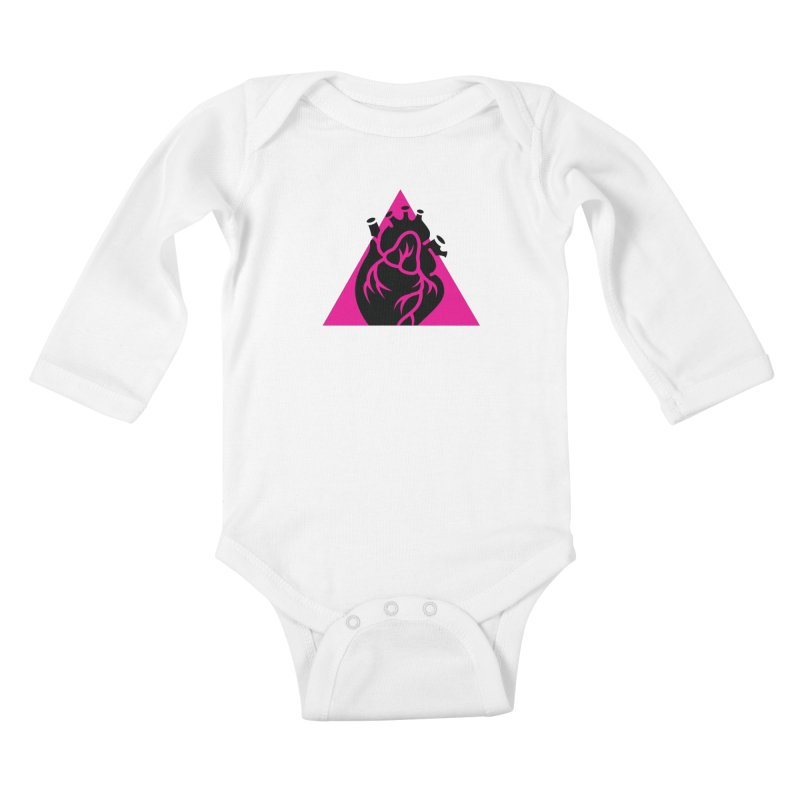 Pink Triangle Kids Baby Longsleeve Bodysuit by Blake Wood Ink