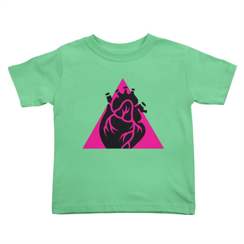 Pink Triangle Kids Toddler T-Shirt by Blake Wood Ink