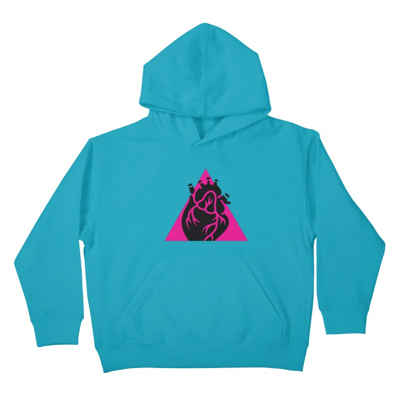 Pink Triangle Kids Pullover Hoody by Blake Wood Ink