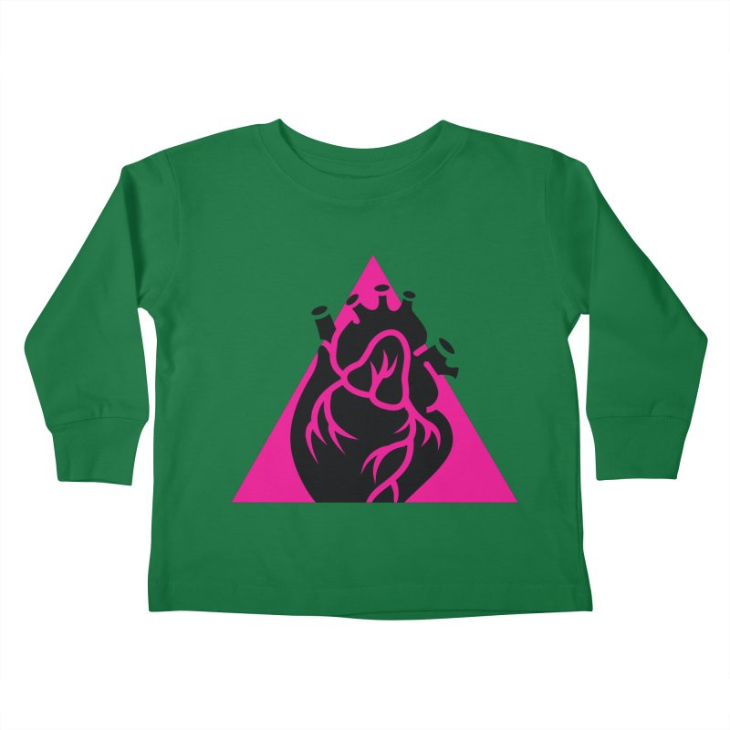Pink Triangle Kids Toddler Longsleeve T-Shirt by Blake Wood Ink