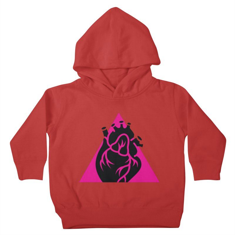 Pink Triangle Kids Toddler Pullover Hoody by Blake Wood Ink