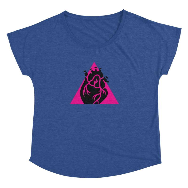 Pink Triangle Women's Dolman by Blake Wood Ink