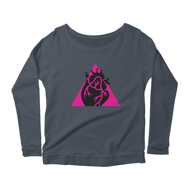 Pink Triangle Women's Longsleeve Scoopneck  by Blake Wood Ink