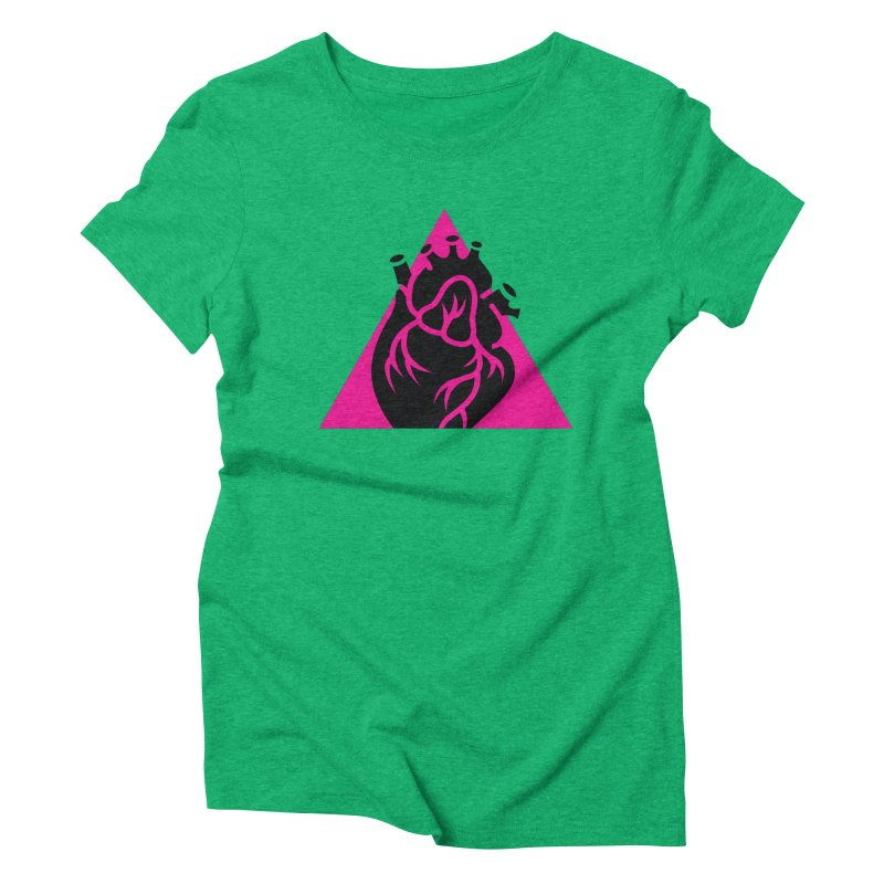 Pink Triangle Women's Triblend T-shirt by Blake Wood Ink